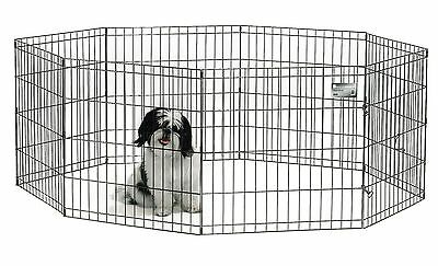 Midwest Home For Pets Exercise Pen with Door 24-Inch Black New