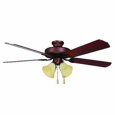 Yosemite Home Decor WESTFIELD-BB-4 52-Inch Ceiling Fan with Light Kit and... New