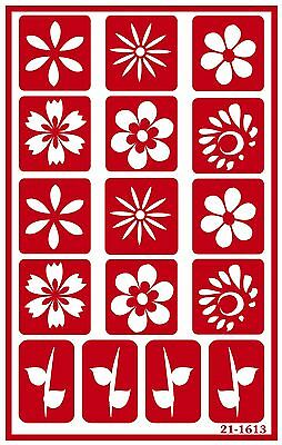Armour Etch 21-1613 Over N Over Stencil Daisies New