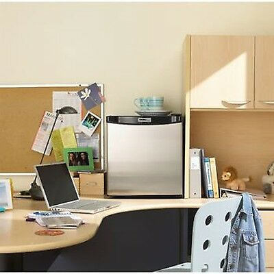 Danby 1.6 Cubic Feet Compact Refrigerator-Stainless Steel Look New