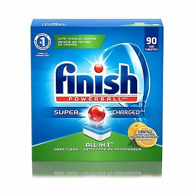 Finish All In 1 Powerball Orange  90 Count New
