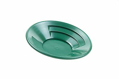 SE GP1013G12 12-Inch Green Gold Pan Plastic Body Dual Riffles New