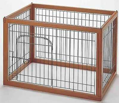 Richell 94117 Wood Pet Pen 90-60 Autumn Matte Finish New