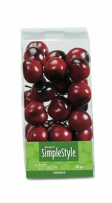 FloraCraft RS9807/4/6 SimpleStyle 25-Piece Mini Decorative Fruit Cherry New