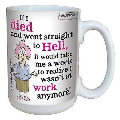 Tree-Free Greetings lm43907 Hilarious Aunty Acid Straight to Hell by The ... New