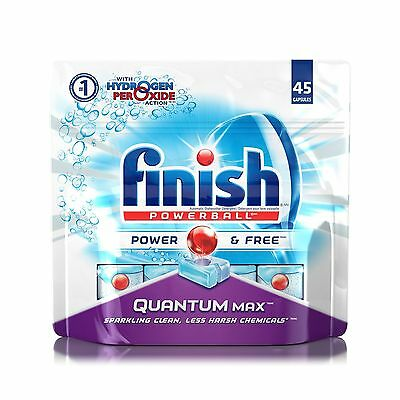 Finish Dishwasher Detergent Quantum Max Power and Free with Hydrogen Pero... New