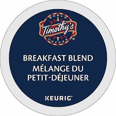 Timothy`s World Coffee Breakfast Blend K-Cups New