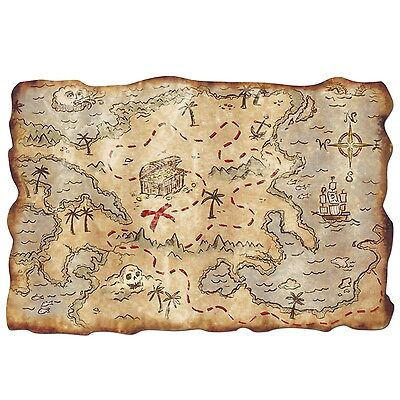 Beistle 55305 Plastic Treasure Map 12-Inch by 18-Inch New