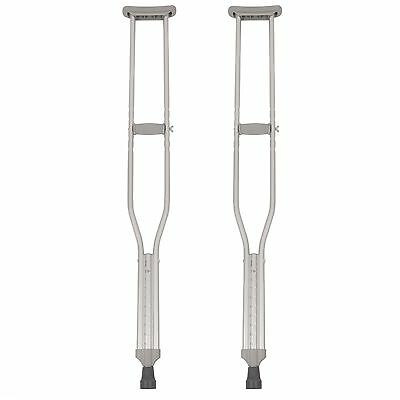 PCP Mobility & Homecare Aluminum Adjustable Standard Crutches with Tips H... New