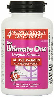 Nu-Life The Ultimate One Original Women A Active Caplets 120 Count Bottle New