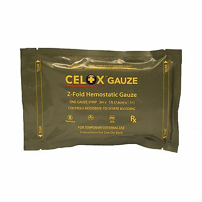First Voice TS-Z-035 Mesh Celox Gauze Z Fold Small 3-Inch X 5-Feet Roll New