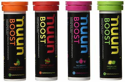 Nuun Boost Hydrating Electrolyte Tablets Mixed Flavors 4 count 4 Tubes New