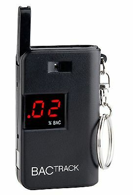 BACtrack Keychain Breathalyzer Portable Keyring Breath Alcohol Tester Black New