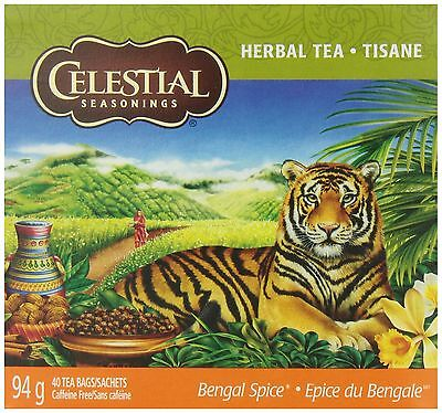 Celestial Seasonings Bengal Spice Herbal Tea 40 Count New