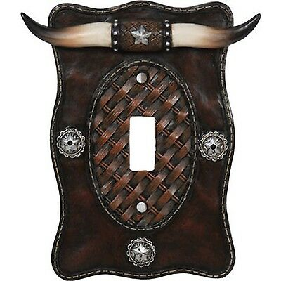 Rivers Edge Products Longhorn Single Switch Electrical Cover Plate New