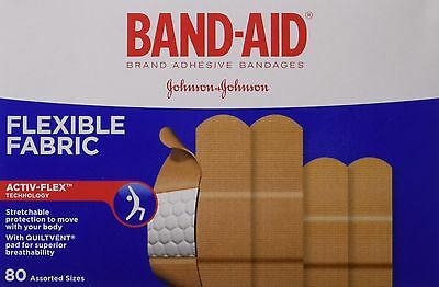 Band-Aid Flexible Fabric Assorted Adhesive Bandages Value Pack New