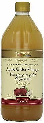 Spectrum Acv Organic Unfiltered 946 ml New