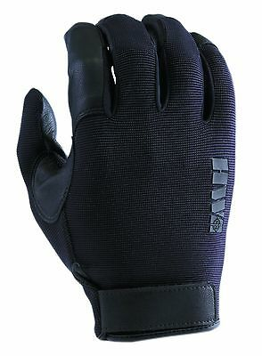 HWI Gear Spandex Knit and Goatskin Leather Glove Large Black New