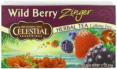Celestial Seasonings Herb Tea Wild Berry Zinger 20-count (Pack of 6) New