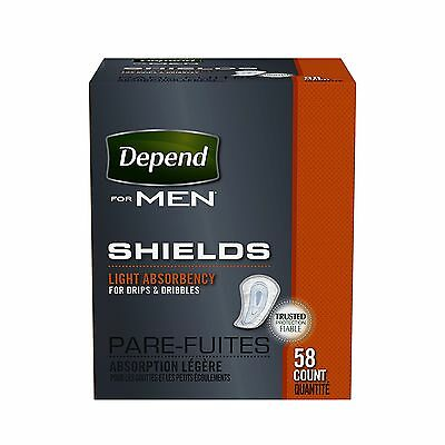 Depend Shields for Men 58 Count New