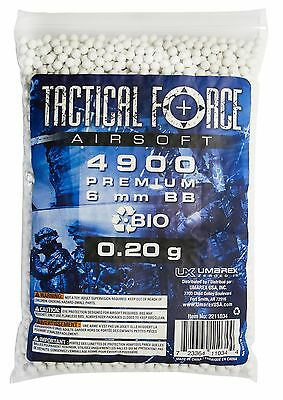 Tactical Force Bio Airsoft BB 0.25g/6mm White New