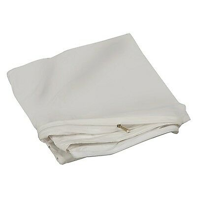 DMI Zippered Plastic Mattress Cover Protector Waterproof Twin Size White New