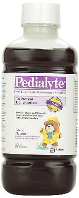 Pedialyte RTF Grape Electrolyte 1L Bottle New