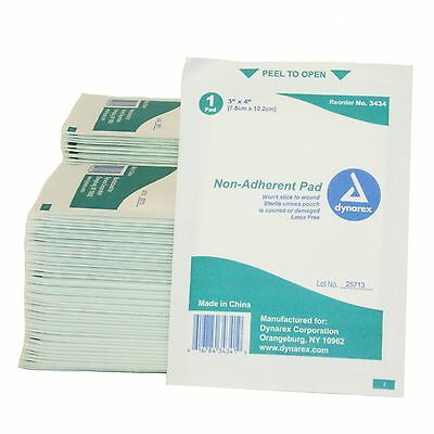 First Voice TS-3434-100 Mesh Non-Adherent Pads 3-Inch X 4-Inch Sterile (P... New