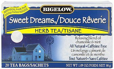 Bigelow Tea Sweet Dreams (Pack of 6) New