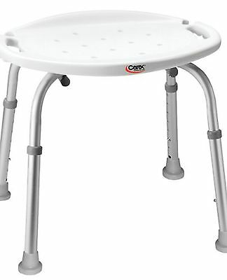 Carex Adjustable Bath and Shower Seat without Back 1 Count New