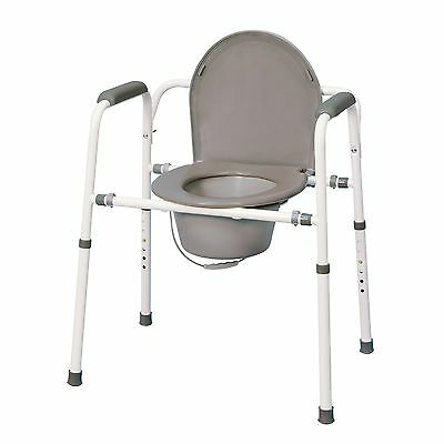 MedPro Homecare Commode Chair with Adjustable Height New