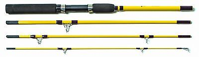 Eagle Claw Pack-IT Medium Spinning Rod 4 Piece Yellow 6-Feet 6-Inch New