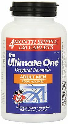 Nu-Life The Ultimate One Original Men Adult Caplets 120 Count Bottle New