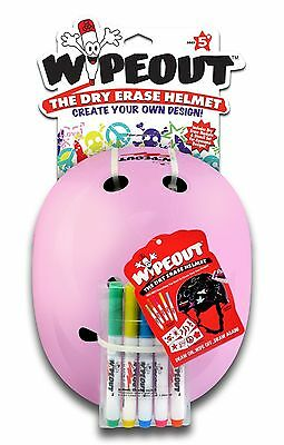 Triple Eight 604352040068 Wipeout Dry Erase Helmet Pink Small/3+ Years New