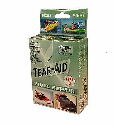 Tear-Aid Repair Patches Type B Vinyl Kit 1Pack New