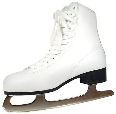 American Athletic Shoe Women's Tricot Lined Ice Skates White 7 New