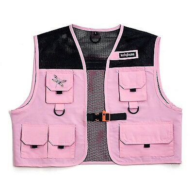 Lucky Bums Kid's Fishing and Adventure Vest (Pink Small) Pink New
