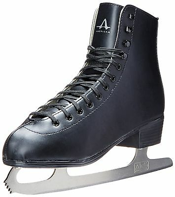 American Athletic Shoe Men's Tricot Lined Figure Skates Black 8 New