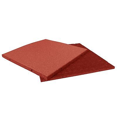 Rubber Cal Eco-Sport Floor Tile-Pack of 3 Red 1 x 20 x 20-Inch New