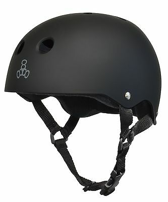 Triple Eight T8 Brainsaver All Black Rubber Helmet-XL XL New