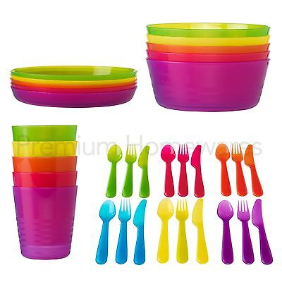 IKEA KALAS Kids' Plastic Party Tableware (Bowls/Cups/Plates or Cutlery)