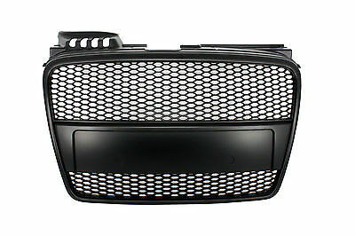 Audi A4 B7 (2004-2008) RS4 Matte Black Badgeless Front Grille