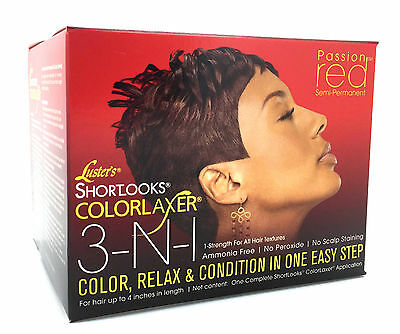 Luster's Pink Short Looks 3-in-1 Color Relax & Condition - Passion Red Kit