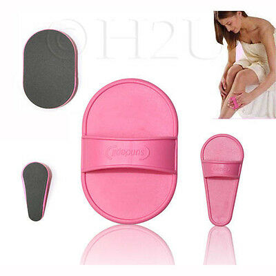 Exfoliating Hair Removal Pads Set Smooth Skin Legs Arm Face Waxing Wax Remover