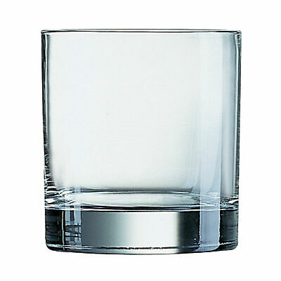 Islande Old Fashioned Tumblers 380ml - Set of 6 - Large Whisky Rocks Glasses