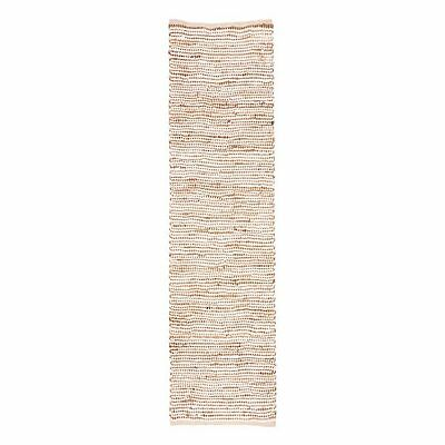 NEW FAB Rugs Ibis Jute Runner Rug, White