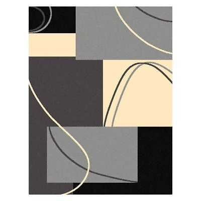 NEW Saray Rugs Art Strung Modern Rug in Grey, Red