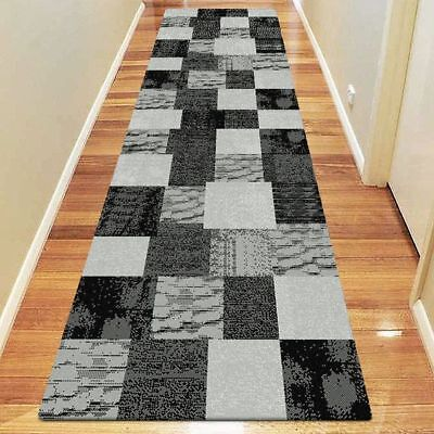 NEW Saray Rugs Rider Modern Runner Rug in Black, Brown, Red