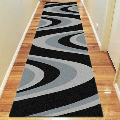NEW Saray Rugs Colour Whirl Modern Runner Rug in Beige, Black, Brown, Red