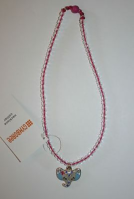 New Gymboree Outlet Jeweled Elephant Metallic Pink Crystal Necklace One Size NWT